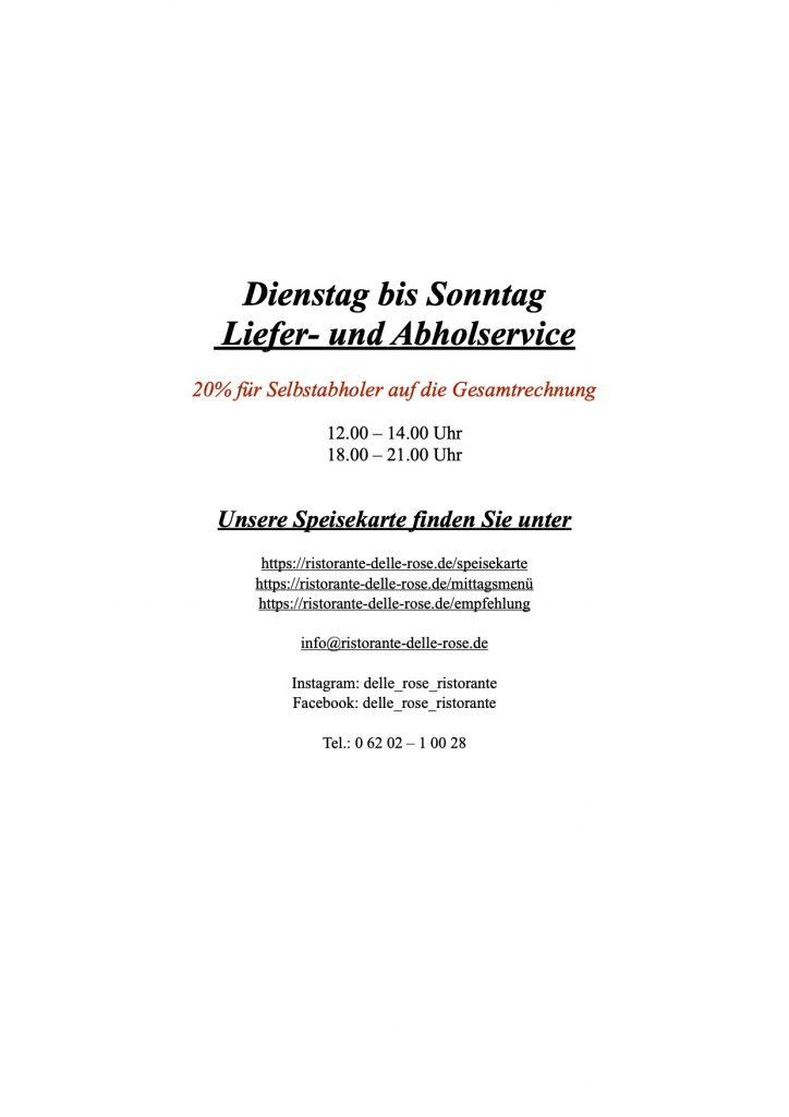 """Liefer- und Abholservice     """"toGo"""""""